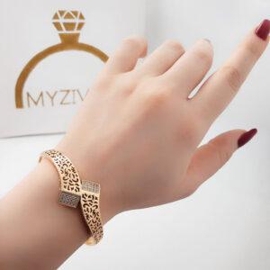 دستبند زنانه طرح طلا مارک ژوپینگ کد 13051