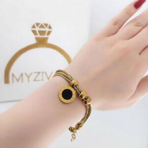 دستبند دخترانه رنگ ثابت مدل بولگاری کد 13054