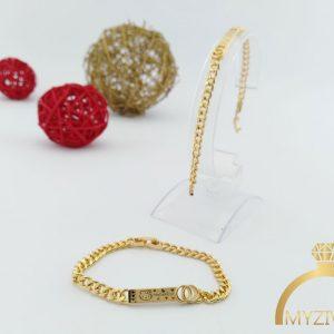 دستبند طرح طلا بچگانه کد 13061