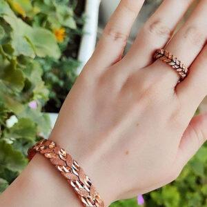 ست دستبند و انگشتر مس 1