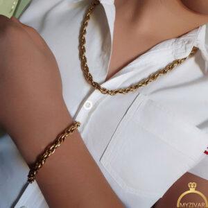 ست زنجیر دستبند مردانه